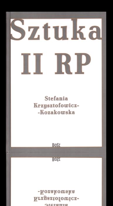 Okładka książki Sztuka II RP
