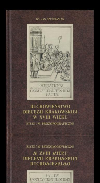 Okładka książki Duchowieństwo diecezji krakowskiej w XVIII wieku