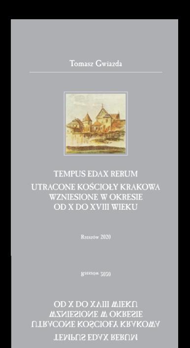 """Okładka książki """"Tempus edax rerum"""""""